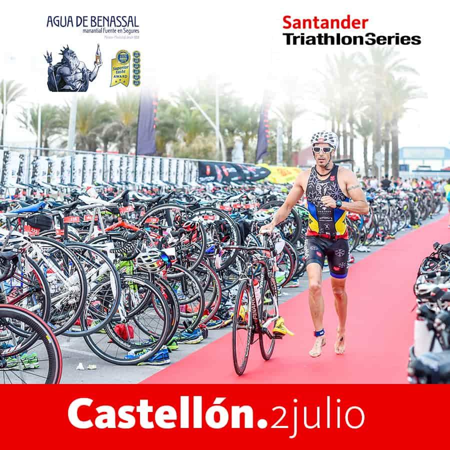 Agua de Benassal en el Triathlon de Castellón