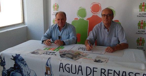 Agua de Benassal y Alcer Castalia firman acuerdo de colaboración.